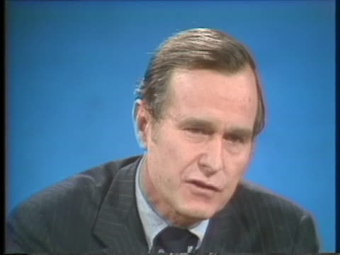 stockvideo's en b-roll-footage met george h w bush us central intelligence agency director discusses his point of view regarding the release of the nation's secrets - united states and (politics or government)