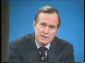 george h. w. bush, us central intelligence agency director, discusses his intentions to report directly to one or two committees in congress. - united states and (politics or government) stock videos & royalty-free footage