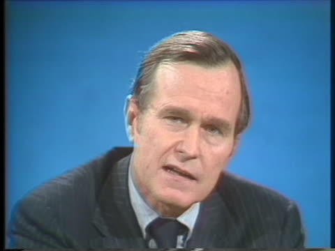 stockvideo's en b-roll-footage met george h w bush us central intelligence agency director discusses the possibility of a secrecy legislation to apply penalties to parties leaking... - united states and (politics or government)