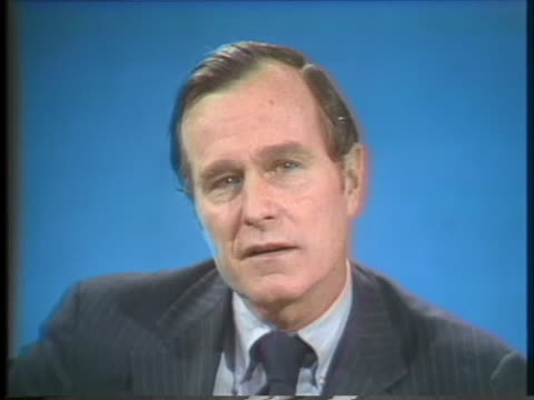 stockvideo's en b-roll-footage met george h w bush us central intelligence agency director emphatically expresses his view about the release of classified information - united states and (politics or government)