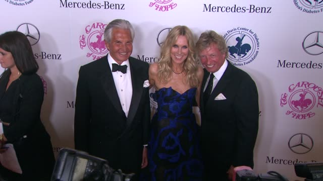 george hamilton, alana stewart, and nigel lythgoe at the 2014 carousel of hope ball at the beverly hilton hotel on october 11, 2014 in beverly hills,... - alana stewart stock videos & royalty-free footage