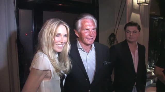 george hamilton & alana stewart at craig's restaurant on august 18, 2015 in los angeles, california. - alana stewart stock videos & royalty-free footage
