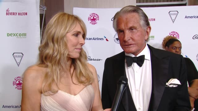 george hamilton and alana stewart at 2018 carousel of hope ball at the beverly hilton hotel on october 06, 2018 in beverly hills, california. - the beverly hilton hotel stock videos & royalty-free footage