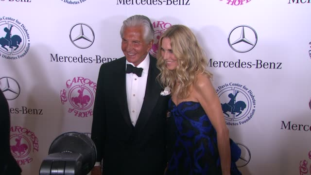 george hamilton and alana stewart at the 2014 carousel of hope ball at the beverly hilton hotel on october 11, 2014 in beverly hills, california. - alana stewart stock videos & royalty-free footage