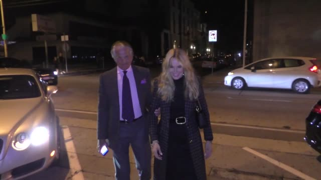 george hamilton & ex-wife alana stewart arrive for dinner at craig's restaurant in los angeles in celebrity sightings in los angeles, - alana stewart stock videos & royalty-free footage
