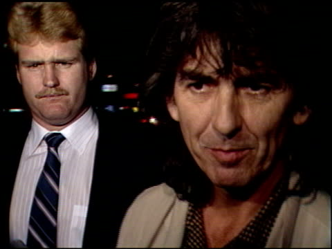 george harrison at the 'powwow highway' premiere at director's guild theater on february 23 1989 - george harrison stock videos & royalty-free footage