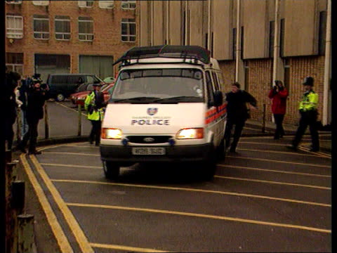 George Harrison Attack Man appears in court ENGLAND Oxford Police van carrying Michael Abram accused of stabbing George Harrison away from court PAN