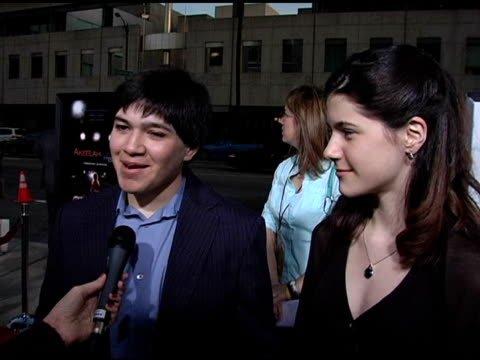 vidéos et rushes de george hornedo and sara niemietz on their characters in the film, and on the words they had to spell at the 'akeelah and the bee' los angeles... - academy of motion picture arts and sciences