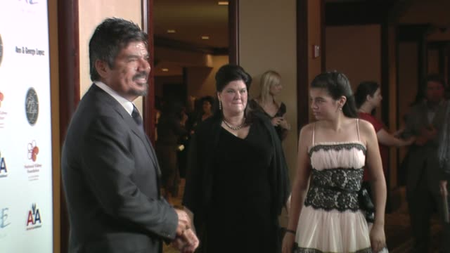 stockvideo's en b-roll-footage met george lopez and mayan lopez at the 29th annual the gift of life gala at the hyatt regency century plaza hotel in beverly hills california on may 18... - hyatt regency