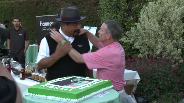 George Lopez and Michael Wilson at the 10th Annual George Lopez Foundation Celebrity Golf Classic at Lakeside Golf Club on May 1 2017 in Toluca Lake...