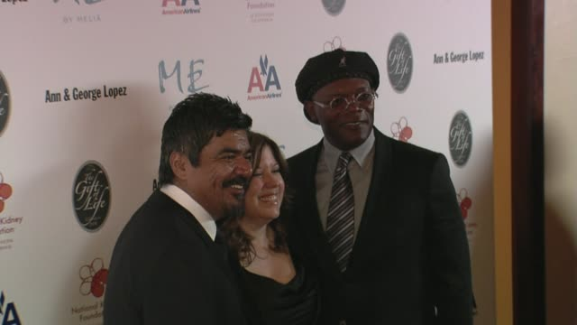 george lopez and samuel l jackson at the 29th annual the gift of life gala at the hyatt regency century plaza hotel in beverly hills, california on... - hyatt regency stock videos & royalty-free footage