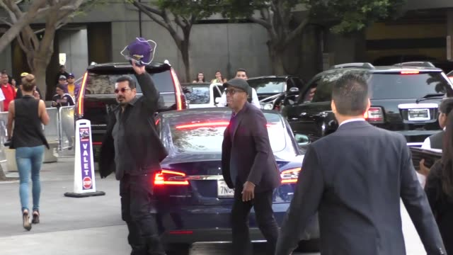 George Lopez Arsenio Hall arriving to see Kobe Bryant's final game at Staples Center in Los Angeles Celebrity Sightings on April 13 2016 in Los...