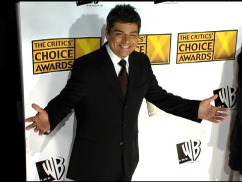 george lopez at the 2005 critics' choice awards at the wiltern theater in los angeles, california on january 10, 2005. - wiltern theater stock videos & royalty-free footage