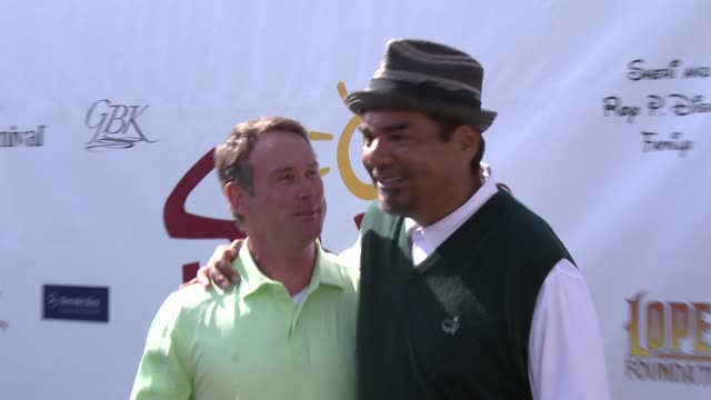 george lopez at the 7th annual george lopez celebrity golf classic presented by sabra salsa at lakeside golf club on may 05, 2014 in toluca lake,... - toluca lake stock videos & royalty-free footage