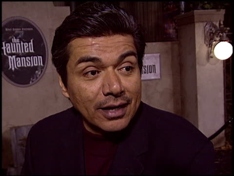 George Lopez at the Premiere of 'The Haunted Mansion' at the El Capitan Theatre in Hollywood California on November 23 2003