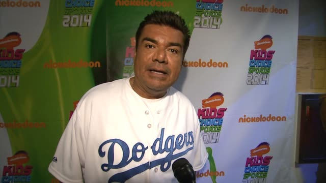 George Lopez Backstage at the Nickelodeon Kids' Choice Sports Awards 2014 at Pauley Pavilion on July 17 2014 in Los Angeles California