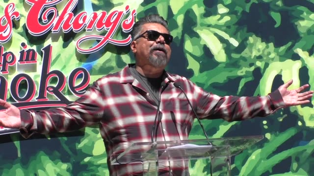 George Lopez introduces Cheech Marin Tommy Chong before they receive their key to the city in West Hollywood in Celebrity Sightings in Los Angeles