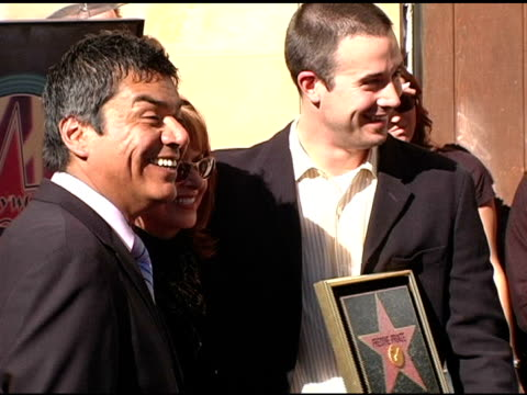George Lopez Kathy Cochran and Freddie Prinze Jr at the Dedication of Freddie Prinze's Star on the Walk of Fame at Hollywood Boulevard in Hollywood...