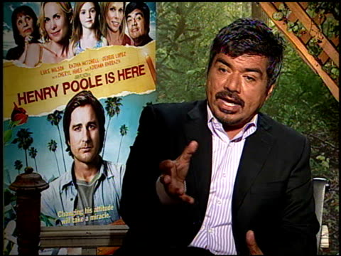 George Lopez on his grand mother's superstitions at the HENRY POOLE IS HERE junket at Los Angeles CA
