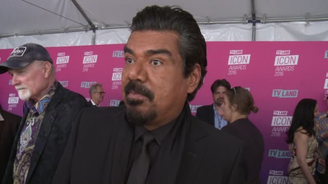 interview george lopez on hosting the tv land icon awards talks about the honorees and what makes a true icon at tv land icon awards arrivals in los... - tv land awards stock videos and b-roll footage