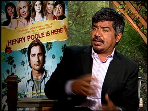George Lopez on if he believes in miracles at the HENRY POOLE IS HERE junket at Los Angeles CA