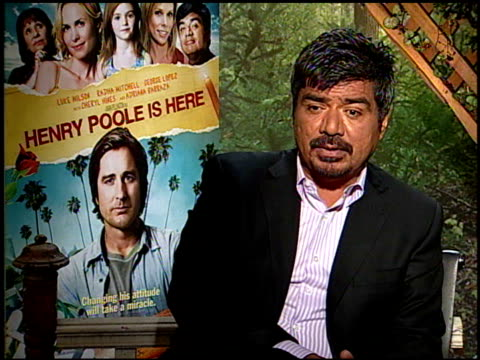 George Lopez on seeing more dramatic roles for him in the future at the HENRY POOLE IS HERE junket at Los Angeles CA
