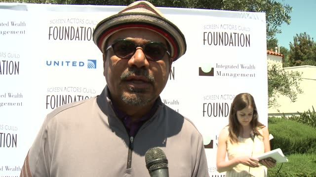 INTERVIEW George Lopez on supporting SAG Foundation on being an avid golfer and on his team for today's tournament at Screen Actors Guild...