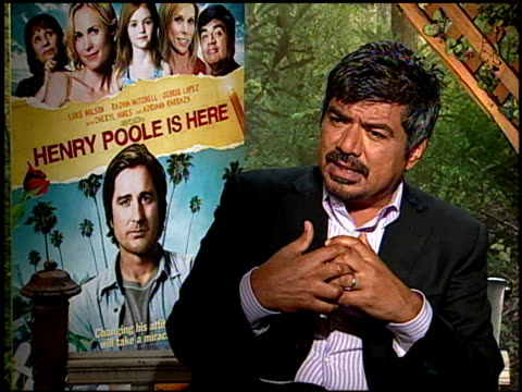 George Lopez on what drew him to the film at the HENRY POOLE IS HERE junket at Los Angeles CA