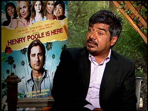 George Lopez on what he wants people to know about the film at the HENRY POOLE IS HERE junket at Los Angeles CA