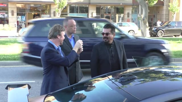 george lopez outside baltaire restaurant in brentwood in celebrity sightings in los angeles, - brentwood los angeles stock videos & royalty-free footage