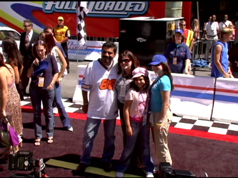 George Lopez with family at the 'Herbie Fully Loaded' Los Angeles Premiere at the El Capitan Theatre in Hollywood California on June 19 2005