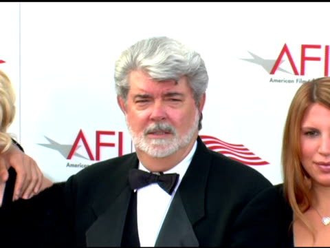 George Lucas and children at the 33rd AFI Life Achievement Award 'A Tribute to George Lucas' at the Kodak Theatre in Hollywood California on June 9...