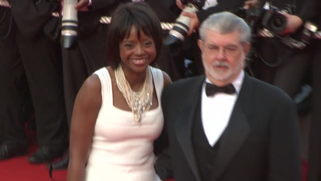 George Lucas and Melody Hoffman at the 2008 Cannes Film Festival 'Kung Fu Panda' Premiere in Cannes on May 15 2008