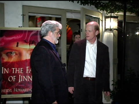 George Lucas and Ron Howard at the In the Face of Jinn Release Party at Private Residence in Pacific Palisades California on April 18 2005