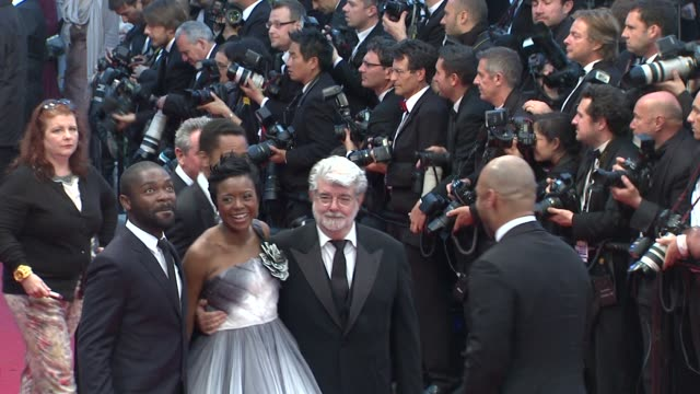 vídeos de stock, filmes e b-roll de 65th cannes film festival at lumiere on may 25 2012 in cannes france - george lucas