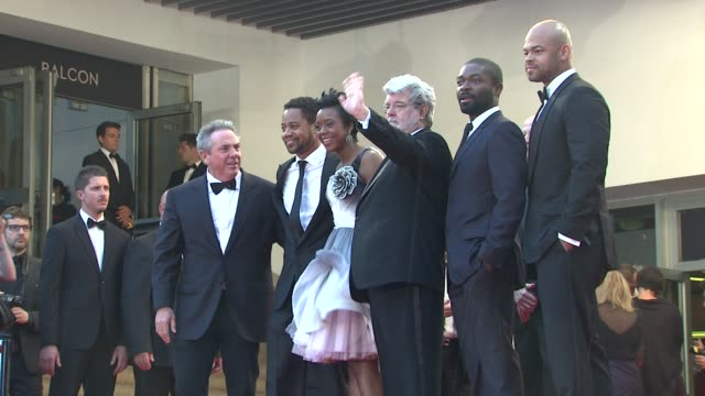 65th cannes film festival at lumiere on may 25 2012 in cannes france - george lucas stock videos & royalty-free footage