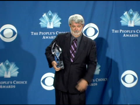 George Lucas at the 2006 People's Choice Awards press room at the Shrine Auditorium in Los Angeles California on January 10 2006