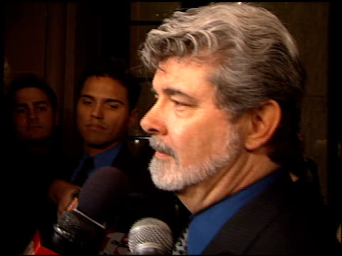 vídeos de stock, filmes e b-roll de george lucas at the american jewish committee honors george lucas at the beverly regent hotel in beverly hills california on january 13 2000 - george lucas