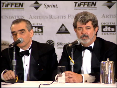 George Lucas at the Artist Rights Foundation Huston Award at the Beverly Regent Hotel in Beverly Hills California on April 28 1995
