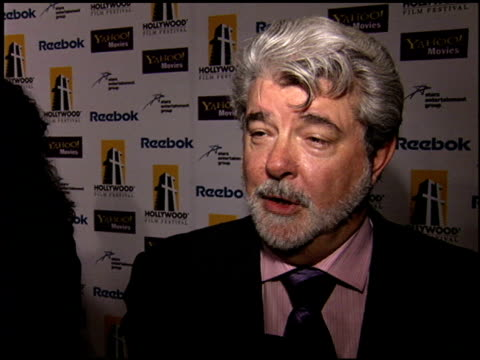 George Lucas at the Hollywood Film Festival Awards at the Beverly Hilton in Beverly Hills California on October 24 2005
