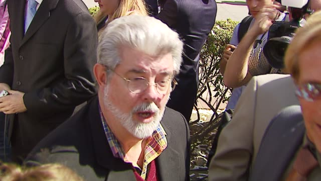 George Lucas at the Lucasfilm Foundation Groundbreaking Ceremony at USC School of Cinematic Arts in Los Angeles California on October 4 2006