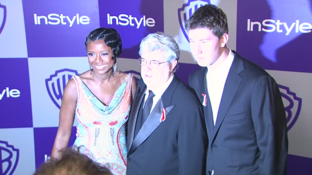 vídeos y material grabado en eventos de stock de george lucas at the warner bros and instyle golden globe afterparty at beverly hills ca - warner bros