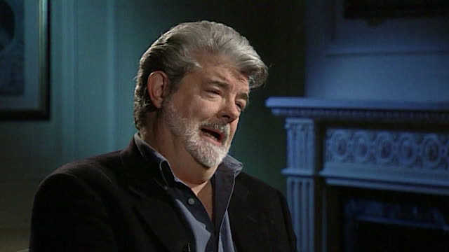 george lucas describes the star wars character darth vader as a 'cranky old man in a mask' - schurke stock-videos und b-roll-filmmaterial
