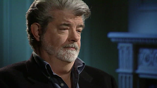 vídeos de stock, filmes e b-roll de george lucas discusses the plot of star wars episode iii – revenge of the sith saying 'there is no more story this is it' - george lucas