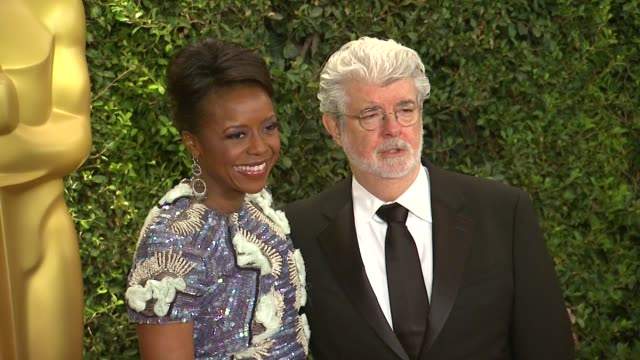 George Lucas Mellody Hobson at Academy Of Motion Picture Arts And Sciences' Governors Awards in Hollywood CA on