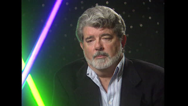 vídeos de stock, filmes e b-roll de episode iv a new hope saying 'a big complaint about the first film was that it was a special effects movie and there was no character and no story' - george lucas