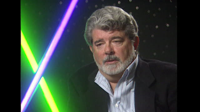 george lucas on giving the star wars audience a 'sense of good and evil' - director stock videos & royalty-free footage