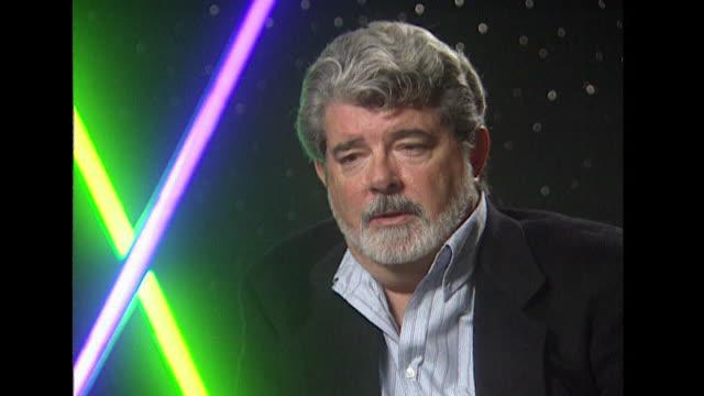 vídeos de stock, filmes e b-roll de george lucas on giving the star wars audience a 'sense of good and evil' - george lucas