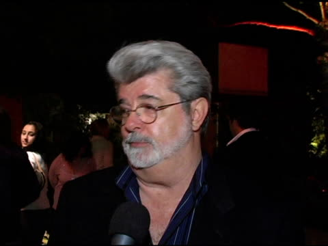 George Lucas on how proud he is of Cheryl how long he has known her and on her traveling at the In the Face of Jinn Release Party at Private...