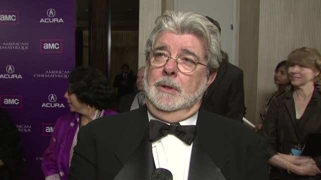 George Lucas on Samuel L Jackson being tonight's honoree on how he got involved in tonight's event on the work the American Cinematheque does on how...